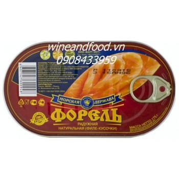 Cá hồi Nga xông khói đóng hộp 175g