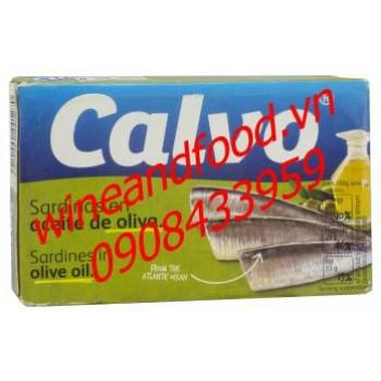 Cá mòi ngâm dầu olive Calvo 120g