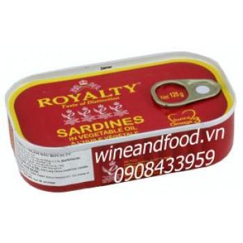 Cá mòi ngâm dầu Royalty 125g