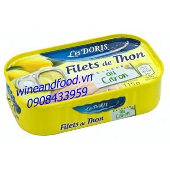 Cá ngừ phi lê sốt chanh Les Doris 115g