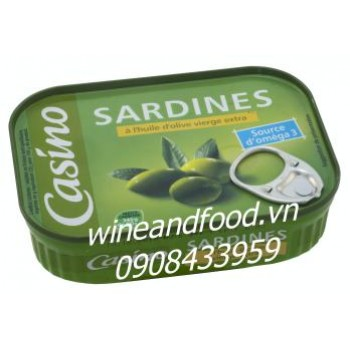 Cá Sardine ngâm dầu oliu Casino 135g
