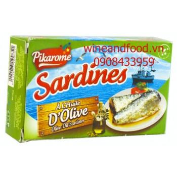 Cá Sardines ngâm dầu oliu Pikarome 125g