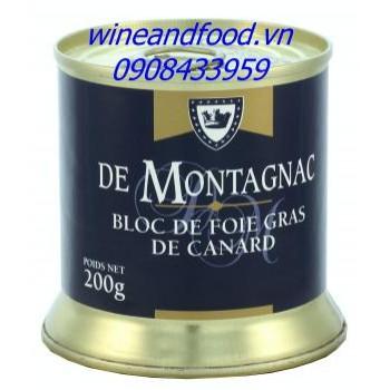 Pate gan vịt De Montagnac hộp thiếc 200g