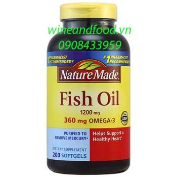 Viên dầu cá Fish oil Nature Made 200 viên