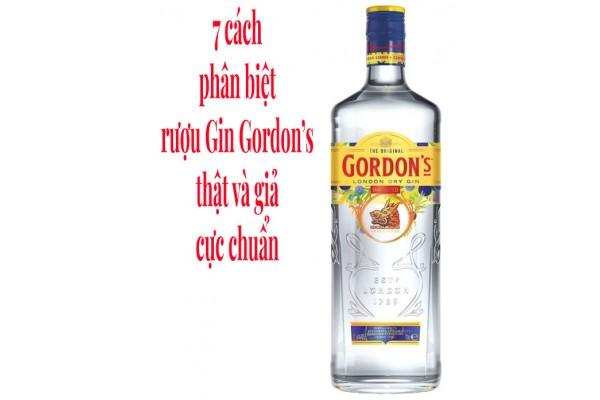 7 cách phân biệt rượu Gin Gordon's thật và giả cực chuẩn