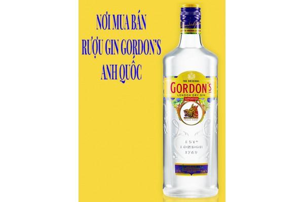 Nơi mua bán rượu Gin Gordon's Anh Quốc