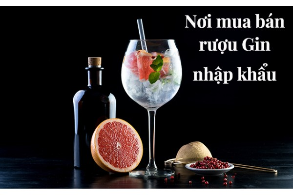 Nơi mua bán rượu Gin nhập khẩu chính hãng