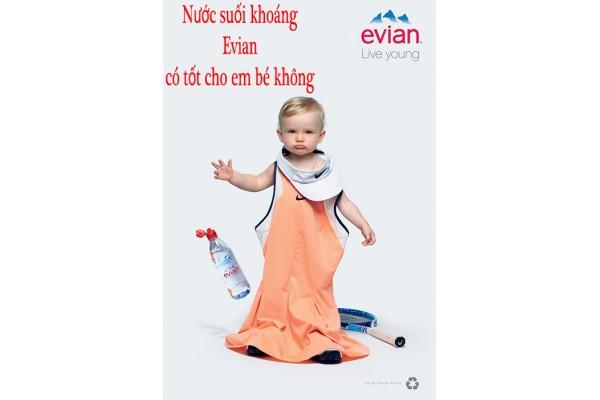 Nước suối khoáng Evian có tốt cho em bé không