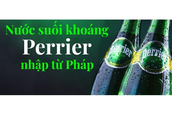 Nước suối khoáng Perrier nhập từ Pháp