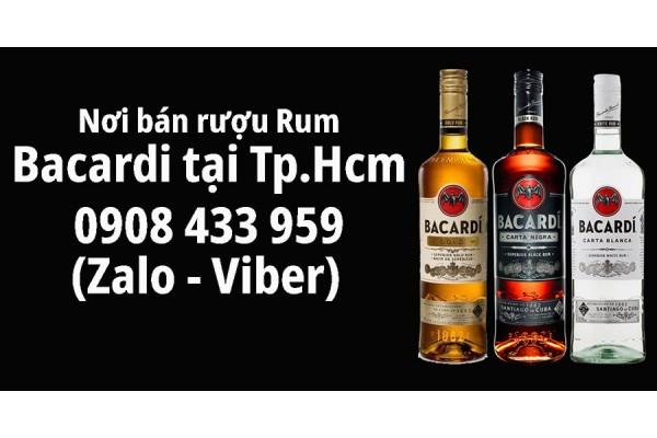 Nơi mua bán rượu Rum Bacardi các loại Vàng Trắng Đen chính hãng giá sỉ tại tphcm