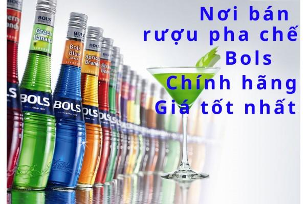 Rượu Bols pha chế bán ở đâu tại tphcm