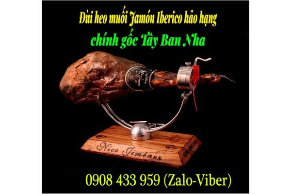 Thịt đùi heo muối Jamón Iberico - Đùi lợn đen đặc sản Tây Ban Nha chính gốc