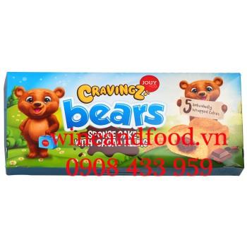 Bánh Bông Lan Gấu nhân Socola Cravingz Bears Jouy & Co 225g