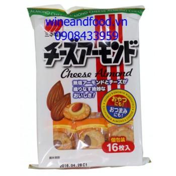 Bánh gạo Nhật Bản hạnh nhân phô mai