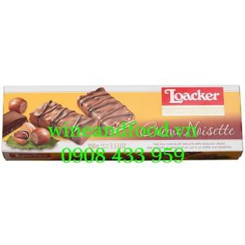 Bánh phủ kem socola hạt Dẻ Loacker 100g