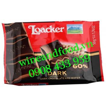Bánh phủ Socola đen 60% Loacker 50g