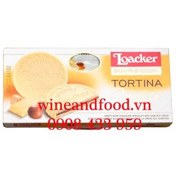 Bánh quy phủ Socola trắng Tortina White Loacker 125g