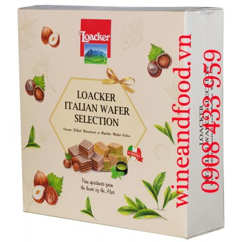 Bánh quy xốp Loacker Italian Wafer Selection 235g
