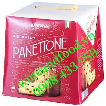 Bánh Cake Giáng Sinh Nho vỏ Cam Panettone Mantovani 750g