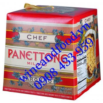 Bánh cake Giáng Sinh Panettone Milano Chef 908g