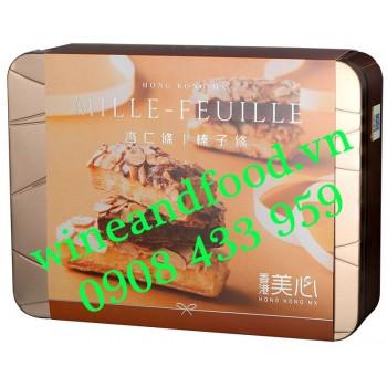 Bánh Mille Feuille Hạnh Nhân Mei-xin Kongkong hộp thiếc 178g