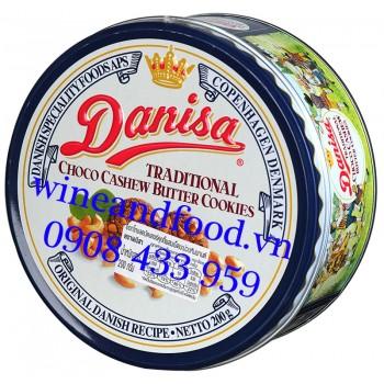 Bánh quy bơ socola hạt Điều Danisa 200g