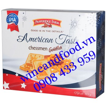 Bánh quy Chessmen Goldfish American Taste Pepperidge Farm 393g