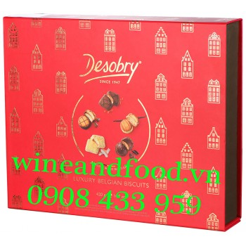 Bánh quy chocolate Biscuit Collection Desobry hộp giấy 420g