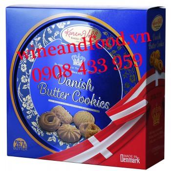 Bánh quy Đan Mạch Danish butter Cookies Karen Volf hộp thiếc 454g