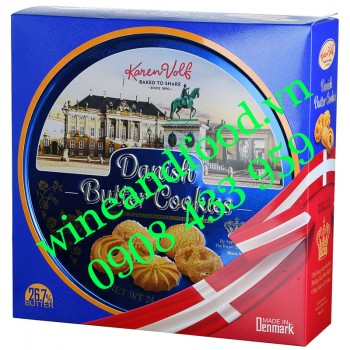 Bánh quy Đan Mạch Danish Butter Cookies Karen Volf hộp thiếc 681g