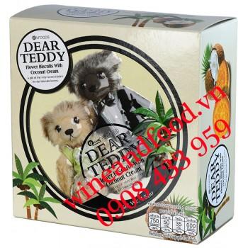 Bánh quy Dear Teddy Dừa hộp thiếc 150g