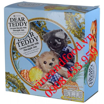 Bánh quy Dear Teddy Dứa hộp thiếc 150g