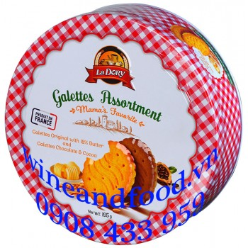 Bánh quy Gallettes Assortment La Dory hộp thiếc 195g