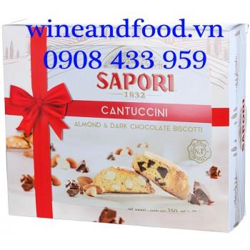 Bánh quy Hạnh Nhân Socola Sapori Cantuccini 350g