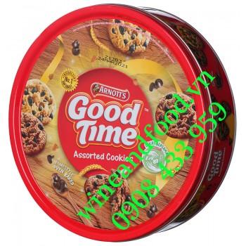 Bánh quy hỗn hợp Good Time Arnott's hộp thiếc 277g
