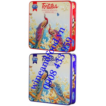 Bánh Tortitas Arcor hộp thiếc vuông 415g