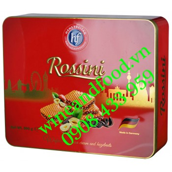 Bánh xốp kem hạt dẻ Rossini Hans Freitag hộp thiếc 500g