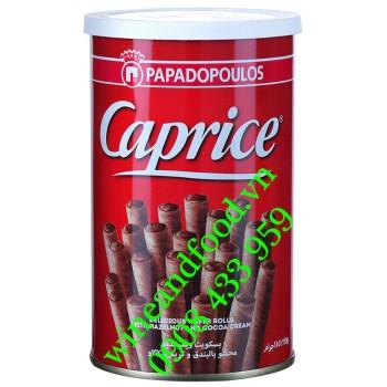 Bánh ống quế Caprice Papadopoulos kem socola Hạt Dẻ 110g