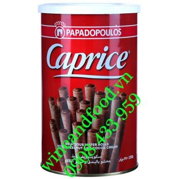 Bánh ống quế Caprice Papadopoulos kem socola Hạt Dẻ 250g