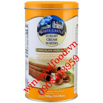Bánh quế nhân kem socola hạt dẻ White Castle 300g