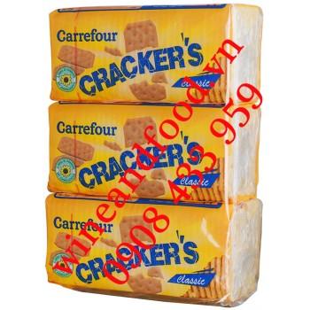 Bánh quy cracker's Classic Carrefour lốc 3 300g