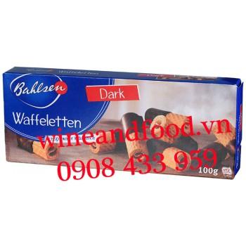 Bánh quy cuộn phủ socola đen Bahlsen 100g