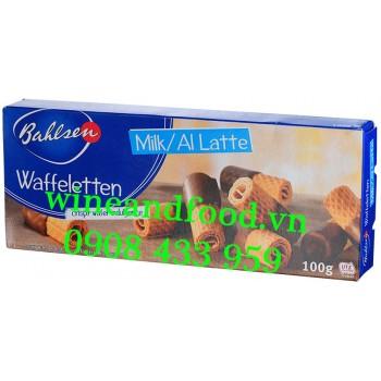 Bánh quy cuộn phủ socola sữa Bahlsen 100g