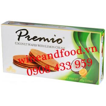 Bánh quy dừa kem Chanh Premio 100g