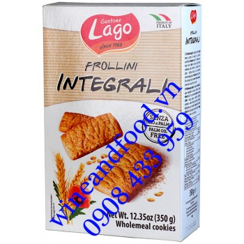 Bánh quy Gastone Lago lúa mì nguyên cám 350g