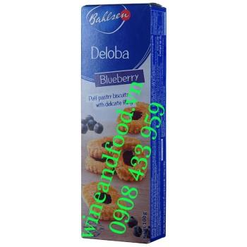 Bánh quy nhân mứt Blueberry Leibniz Bahlsen 125g