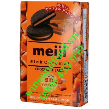 Bánh quy socola Rich Caramel Matcha Meiji 32g