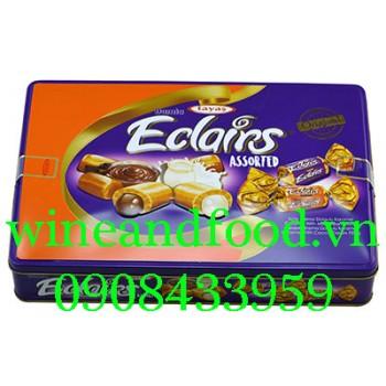 Kẹo hỗn hợp Eclairs Damla Tayas hộp thiếc 600g