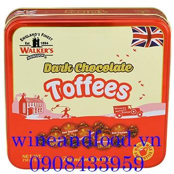 Kẹo Toffees socola đen Walker's 250g