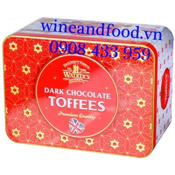 Kẹo Walker's Dark Chocolate Toffees hộp thiếc 250g